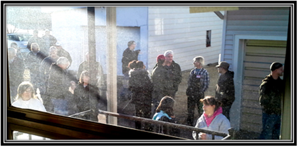 WEST PARK PEOPLE WAITING IN LINE JAN 2015 9-7-15 framed