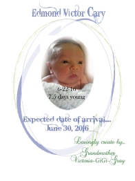 Front cover of Baby book 5-9-16 WITH EDMONDS PIC ON IT 6-25-16